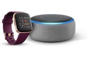 Bild von <b>Amazon</b><br>Fitibit Versa 2 + Echo Dot (3. Gen.)</br>