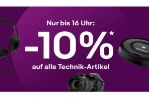 Bild von <b>eBay</b><br>-10% auf alle Technik-Artikel</br>