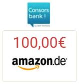 Bild von 100€ Amazon.de Gutschein für kostenloses Consorsbank Depot nur noch für kurze Zeit!