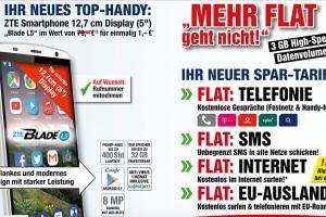 Produktbild von Sonderangebot : ZTE Smartphone für 1€ + Allnet Flat + EBike für 1€
