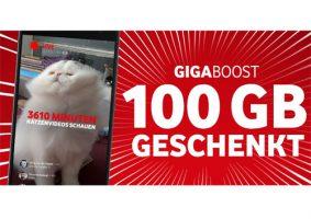 Bild von Vodafone GigaBoost: 100GB geschenkt für alle Kunden – ganz einfach und kostenlos!