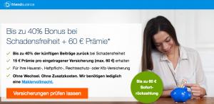 Bild von Hammer! Friendsurance verschenkt bis zu 60 € Sofort-Rückzahlung