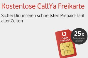 Produktbild von Kostenlose CallYa Prepaidkarte: Talk & SMS + 25€ Startguthaben! (4G LTE Geschwindigkeit)