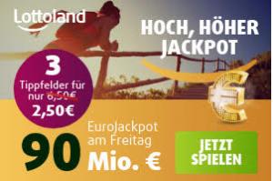 Bild von MEGA JACKPOT ANGEBOT: Eurojackpot – 3 Tippfelder für 2,50€ statt 6,50€