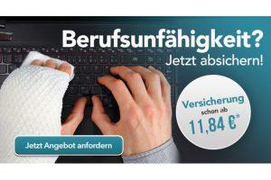Produktbild von Berufsunfähigkeitsversicherung nur 11,84€/mtl.