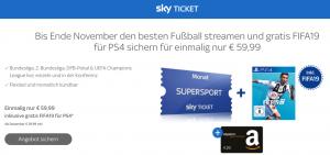 Bild von 20€ Bonus für FIFA19 + Sky Supersport Ticket für einmalig 59,99€ (nur bis 30.09.2018)