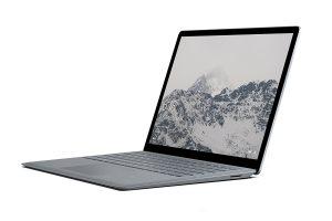 Produktbild von Microsoft Surface Laptop 34,29 cm (13,5 Zoll) (Intel Core M, 128GB Festplatte, 4GB RAM, Intel HD Graphics 615, Win 10 S) Platin Grau