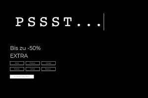 Produktbild von Pssst – 50% EXTRA Rabatt zum Black Friday
