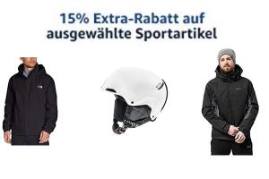 Produktbild von 15% EXTRA Rabatt auf bereits reduzierte Sportartikel z.B. North Face, Bayern Trikot, Explorer, Puma und Jack Wolfskin! (Rabatt wird beim Bezahlen abgezogen!)