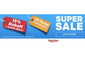 Produktbild von SUPER SALE 2018: 15% EXTRA Rabatt auf Millionen Produkte & 15-fache Superpunkte auf ALLES! CODE: RAKUTEN2018 (6.11. bis 9.11.)