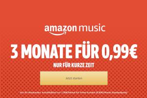 Produktbild von 3 Monate amazon music für nur 0,99€ statt 29,97€!
