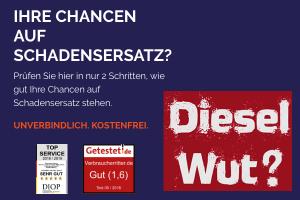 Produktbild von Dieselwut? Jetzt noch gegen den Dieselskandal vorgehen und bis zu 36.000€ Schadensersatz erhalten (Ansprüche verfallen zum 1.12.2018!)