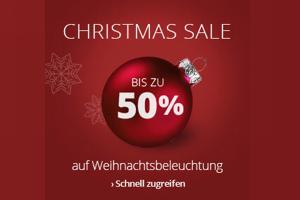 Produktbild von Mega Christmas Sale! Bis zu 50% Rabatt auf hunderte Artikel z.B. Weihnachtsbeleuchtung!