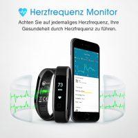 Bild von v Mpow Fitness Tracker, Aktivitätstracker, Herzfrequenzmonitor, Schlafmonitor, Schrittzähler mit 14 Trainingsmodi für Android iOS Smartphone