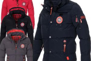 Produktbild von Canadia Peak Geographical Norway Herren Winter Jacke Parka warm gefüttert Jacke
