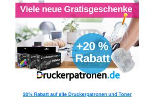 Produktbild von 50% Rabatt im Sale + 20% EXTRA Rabatt auf alle Druckerpatronen und Toner! Mit dem CODE: AR151901