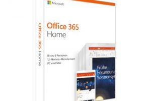 Produktbild von Microsoft Office 365 Home 20€ mit Gutschein OFFICE365H* sparen