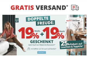 Produktbild von Mega Sale: 19% MwSt. geschenkt + nochmals 19% Rabatt (entspricht ca. 30% Rabatt) + Gratis Versand! Gilt nur noch bis zum 26. Februar