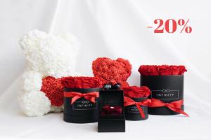 Produktbild von Unvergessliches Rosen-Geschenk von Infinity-Flowerbox! Spare NUR Heute 20% EXTRA auf ALLES