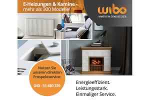 Produktbild von Gratis Katalog + Gratis Beratung für E-Heizung und Kamine von Wibo (hoher Energieeffizienzgrad!)