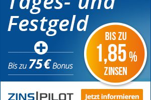 Produktbild von Tages- und Festgeld: 75€ Bonus + bis zu 1,85% Zinsen + kostenlos Konto