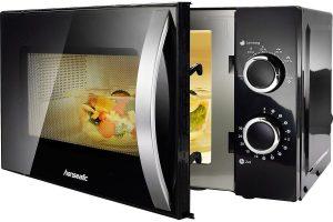 Produktbild von Hanseatic Mikrowelle SMH207P3H-P schwarz, 700 W, Auftaufunktion