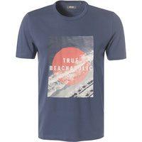 Produktbild von MUSTANG T-Shirts Herren, Baumwolle, blau