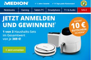 Produktbild von Medion: 10 € Gutschein erhalten + Haushalt Set gewinnen!