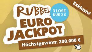 Bild von 3x Rubbellos EuroJackpot für nur 2€