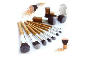 Produktbild von 2x 10er-Set Make-up-Pinsel mit Bambus-Griffen
