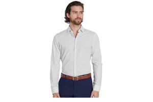 Produktbild von Seidensticker Hemd – Herren – weiß/marine/gemustert