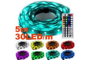 Produktbild von NINETEC Flash30 5m LED Stripe RGB + Fernbedienung