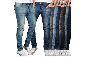 Produktbild von A. Salvarini Designer Herren Jeans Hose Basic Stretch