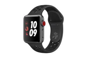 Produktbild von Apple Watch Nike+ LTE 38mm Aluminiumgehäuse Space Grau