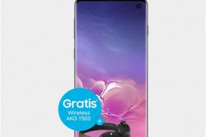 Produktbild von Samsung Galaxy S10 für 5€ + GRATIS AKG Y500 Wireless Kopfhörern + 7GB LTE + Allnet Flat = 36,99€
