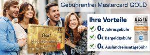 Bild von Kostenlose Mastercard Gold mit 40€ Guthaben