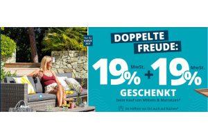 Bild von MEGA HÖFFNER AKTION: 19% + 19% Rabatt GESCHENKT auf Möbel & Matratzen