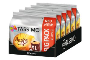 Bild von TASSIMO Morning Café XL 5er Pack T Discs Kaffee Kapseln 5 x 21 Getränke Big Pack